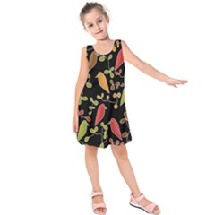 Flowers and birds  Kids  Sleeveless Dress