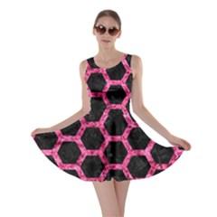 HXG2 BK-PK MARBLE Skater Dress