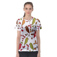 Birds and flowers 3 Women s Sport Mesh Tee