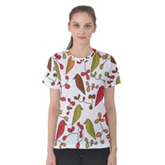 Birds and flowers 3 Women s Cotton Tee