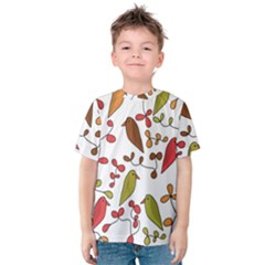 Birds and flowers 3 Kids  Cotton Tee