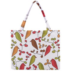 Birds and flowers 3 Mini Tote Bag
