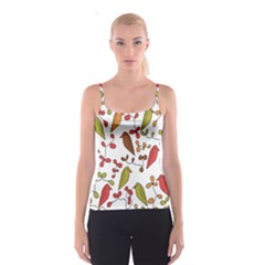 Birds and flowers 3 Spaghetti Strap Top
