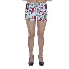 Birds and flowers 3 Skinny Shorts
