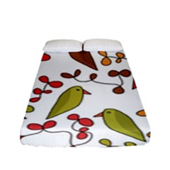 Birds and flowers 3 Fitted Sheet (Full/ Double Size)