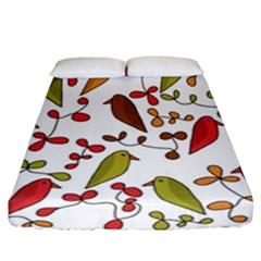 Birds and flowers 3 Fitted Sheet (California King Size)
