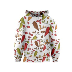 Birds and flowers 3 Kids  Pullover Hoodie