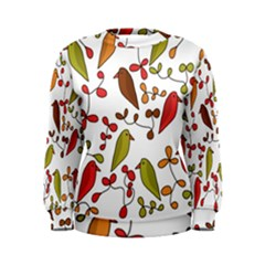 Birds and flowers 3 Women s Sweatshirt