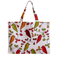 Birds and flowers 3 Zipper Mini Tote Bag