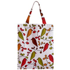 Birds and flowers 3 Zipper Classic Tote Bag