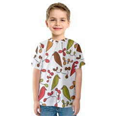 Birds and flowers 3 Kids  Sport Mesh Tee
