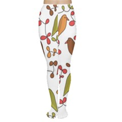 Birds and flowers 3 Women s Tights