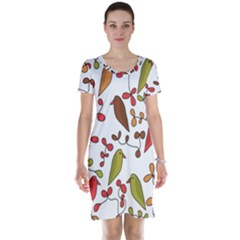 Birds and flowers 3 Short Sleeve Nightdress