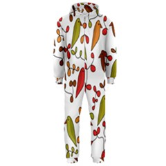 Birds and flowers 3 Hooded Jumpsuit (Men)
