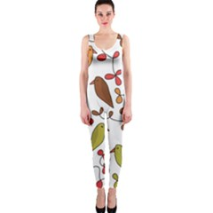 Birds and flowers 3 OnePiece Catsuit