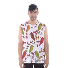 Birds and flowers 3 Men s Basketball Tank Top