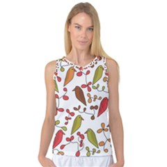 Birds and flowers 3 Women s Basketball Tank Top