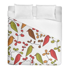 Birds and flowers 3 Duvet Cover (Full/ Double Size)