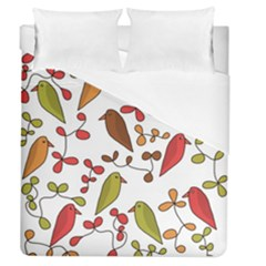 Birds and flowers 3 Duvet Cover (Queen Size)