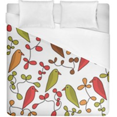 Birds and flowers 3 Duvet Cover (King Size)
