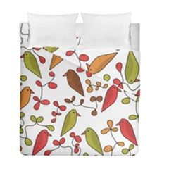 Birds and flowers 3 Duvet Cover Double Side (Full/ Double Size)