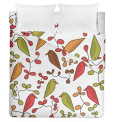 Birds and flowers 3 Duvet Cover Double Side (Queen Size)