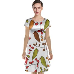 Birds and flowers 3 Cap Sleeve Nightdress