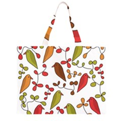 Birds and flowers 3 Large Tote Bag
