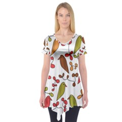 Birds and flowers 3 Short Sleeve Tunic