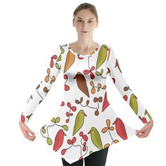 Birds and flowers 3 Long Sleeve Tunic