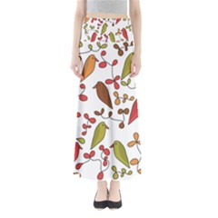Birds and flowers 3 Maxi Skirts