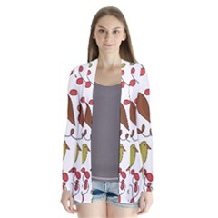 Birds and flowers 3 Cardigans