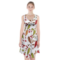 Birds and flowers 3 Racerback Midi Dress