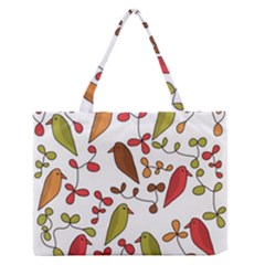 Birds and flowers 3 Medium Zipper Tote Bag