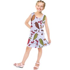 Birds and flowers 3 Kids  Tunic Dress