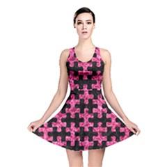 PUZ1 BK-PK MARBLE Reversible Skater Dress