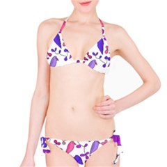 Flowers and birds pink Bikini Set
