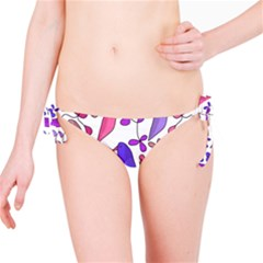 Flowers and birds pink Bikini Bottom