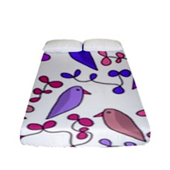 Flowers and birds pink Fitted Sheet (Full/ Double Size)