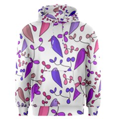 Flowers and birds pink Men s Pullover Hoodie