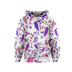 Flowers and birds pink Kids  Zipper Hoodie