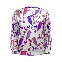 Flowers and birds pink Women s Sweatshirt