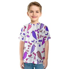 Flowers and birds pink Kids  Sport Mesh Tee