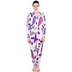 Flowers and birds pink OnePiece Jumpsuit (Ladies)