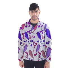 Flowers and birds pink Wind Breaker (Men)