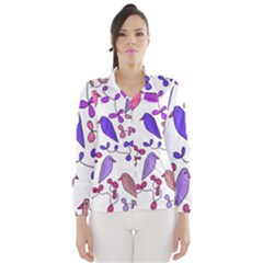 Flowers and birds pink Wind Breaker (Women)