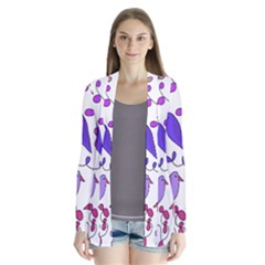 Flowers and birds pink Cardigans