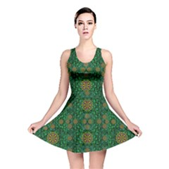 Magic Peacock Night Reversible Skater Dress