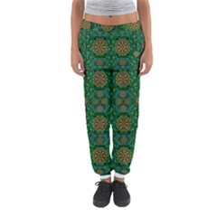 Magic Peacock Night Women s Jogger Sweatpants