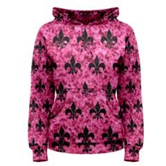RYL1 BK-PK MARBLE Women s Pullover Hoodie